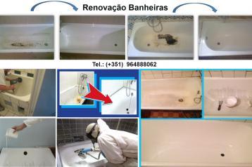 Recuperação de banheiras: restauro, esmaltage...